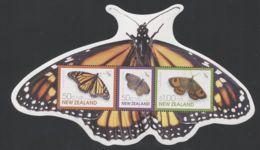 New Zealand - 2010 Butterflies Block MNH__(THB-1776) - Blocks & Kleinbögen