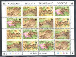 Norfolk Island - 1996 Skinks And Geckos Sheet MNH__(THB-2087) - Norfolk Island