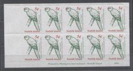 Norfolk Island - 2001 Goat Parakeet Kleinbogen MNH__(TH-11491) - Norfolk Island