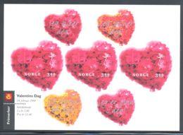 Norway - 1998 Valentine's Day Kleinbogen MNH__(THB-2121) - Blocks & Kleinbögen