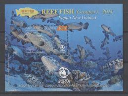 Papua New Guinea - 2011 Fish On The Coral Reef Block MNH__(TH-13761) - Papua-Neuguinea