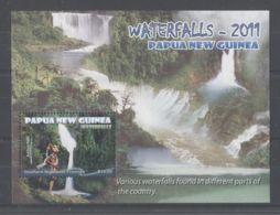 Papua New Guinea - 2011 Waterfalls Block MNH__(TH-10572) - Papua-Neuguinea