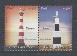 Peru - 2004 Lighthouses Pair MNH__(TH-4736) - Pérou