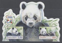 Pitcairn Islands - 2009 Giant Panda Block MNH__(TH-11535) - Briefmarken