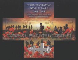 Pitcairn Islands - 2014 First World War Block MNH__(TH-6428) - Briefmarken