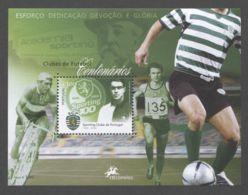 Portugal - 2005 100 Years Of Football Clubs Block (3) MNH__(TH-8830) - Blocks & Sheetlets