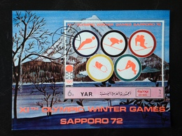 "Yemen, Souvenir Sheet ""Sapporo 72 XIth Olympic Winter Games"" - Jemen"