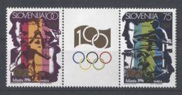Slovenia - 1996 Modern Olympic Games Strip MNH__(TH-5430) - Slowenien