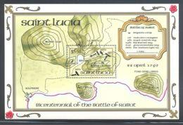 St.Lucia - 1995 Battle Of Rabot Block MNH__(THB-2086) - St.Lucia (1979-...)