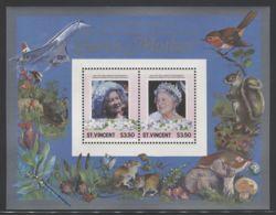 St.Vincent - 1995 Queen Mother Block (2) MNH__(FIL-10090) - St.Vincent (1979-...)