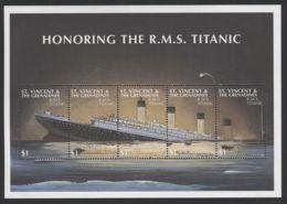 St.Vincent - 1997 Titanic Kleinbogen MNH__(FIL-10268) - St.Vincent (1979-...)