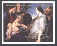 St.Vincent - 2000 Anthony Van Dyck Block (2) MNH__(TH-5129) - St.Vincent (1979-...)