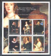 St.Vincent - 2000 Anthony Van Dyck Kleinbogen (2) MNH__(THB-825) - St.Vincent (1979-...)