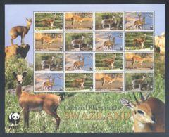 Swaziland - 2001 Small Antelopes Sheet MNH__(THB-1786) - Swaziland (1968-...)