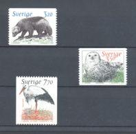 Sweden - 1997 Animals, Owl Etc. MNH__(TH-4416) - Ungebraucht