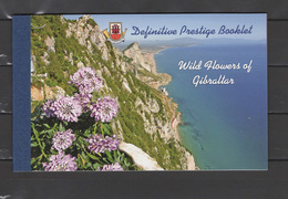 Gibraltar 2004 Michel 1092-1104 Definitives, Wild Flowers Prestige Stamp Booklet With All 13 Stamps MNH - Gibraltar