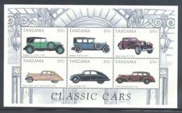Tanzania - 1998 History Of The Automobile Kleinbogen (2) MNH__(THB-2070) - Tansania (1964-...)