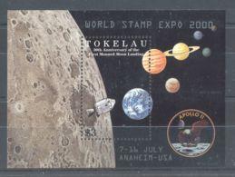 Tokelau - 2000 Moon Landing Overprint Block MNH__(TH-7947) - Tokelau