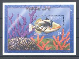 Tuvalu - 2000 Marine And Coastal Animals Block (1) MNH__(TH-731) - Tuvalu
