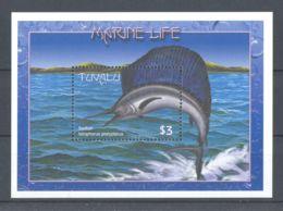 Tuvalu - 2000 Marine And Coastal Animals Block (3) MNH__(TH-767) - Tuvalu