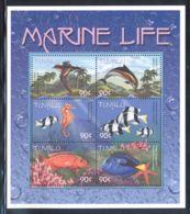 Tuvalu - 2000 Marine And Coastal Animals Kleinbogen (4) MNH__(THB-978) - Tuvalu