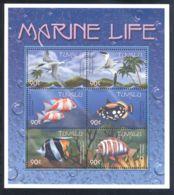 Tuvalu - 2000 Marine And Coastal Animals Kleinbogen (5) MNH__(THB-975) - Tuvalu