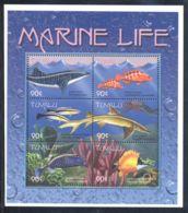 Tuvalu - 2000 Marine And Coastal Animals Kleinbogen (6) MNH__(THB-979) - Tuvalu