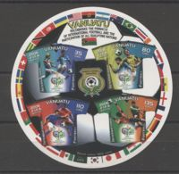 Vanuatu - 2006 Football World Cup Block MNH__(TH-16311) - Vanuatu (1980-...)