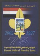 Yemen - 2002 Scouts Block MNH__(TH-15998) - Jemen