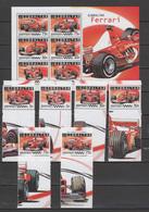 Gibraltar 2004 Michel 1105-1110 Bl. 64 Ferrari, Formula 1, Set Of 4 + S/s MNH - Gibraltar
