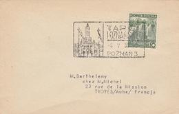 FOIRE De POZNAN En 1939 - Marcophilie - EMA (Empreintes Machines)