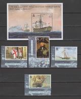 Gibraltar 2005 Michel 1117-1120, Bl. 65 Bicentenary Of Battle Of Trafalgar, Nelson, Ships Set Of 4 + S/s MNH - Gibraltar