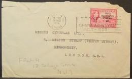 Ghana - Cover To England 1958 Mining Manganese Overprinted 3d Solo Ghana Airways On Cancel - Ghana (1957-...)
