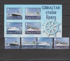 Gibraltar 2005 Michel 1133-1136, Bl. 67 Cruise Ships Set Of 4 + S/s MNH - Gibraltar