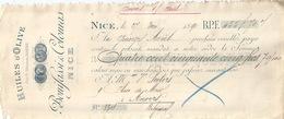 NICE Lettre De Change Huiles D'Olive Bonifassi Et Colomas 1890 - Bills Of Exchange