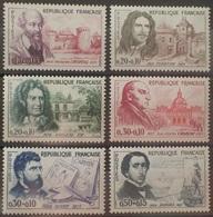 DF40266/1846 - 1960 - FRANCE - CELEBRITES - SERIE COMPLETE - N°1257 à 1262 NEUFS** - France