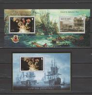 Gibraltar 2005 Michel Block 68-69 Bicentenary Of Battle Of Trafalgar, Nelson, Ships 2 S/s MNH - Gibraltar