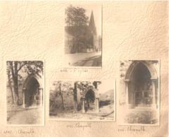 4x Foto Photo ( 5 X 8 Cm) Engis ( Liège ) L'eglise Chapelle - Engis