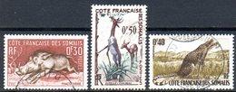 Cote Des Somalis : Yvert N° 287/289° - French Somali Coast (1894-1967)