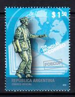 2010 Argentina World Post Day Complete Set Of 1 MNH - Argentinien