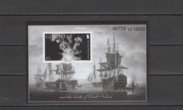 Gibraltar 2005 Bicentenary Of Battle Of Trafalgar, Nelson, Ships Black Print MNH - Gibraltar