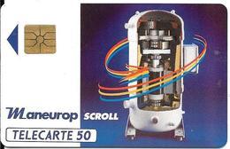 CARTE-PUCE-PRIVEE-PUBLIC- 50U-GEM-06/92-EN385-BON NEZ-W.S.A-R°Laqué-V°Série A-UTILISE-TBE - France