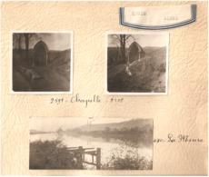 3x Foto Photo ( 5,5 X 5,5 Cm En 4,5 X 10,5 Cm) Engis ( Liège ) Chapelle  La Meuse - Engis