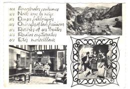 CPSM ANDORRA En Parcourant L'ANDORRE Centre Touristique Multivues Radio Rivière Folklore Années 1960 - Andorra