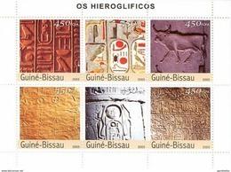 GUINE BISSAU 2003 SHEET HIEROGLYPHS HIEROGLYPHES JEROGLIFICOS HIEROGLIFICOS Gb3330 - Guinea-Bissau