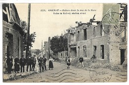 GRENAY - Ruines Dans La Rue De La Gare - France