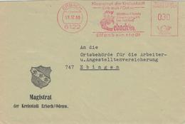6122 Erbach 1968 - Magistrat Sammlungen Schloss - Einhorn - Elfenbein-Stadt - Illustrierter Umschlag - Affrancature Meccaniche Rosse (EMA)