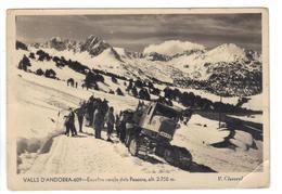 CPSM ANDORRE VALLS D'ANDORRA Envelira Cercle Dels Pessons Claverol Engin à Chenilles Montagnes Enneigées 1960 Animation - Andorra