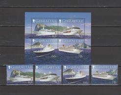 Gibraltar 2006 Michel 1169-1172, Bl. 73 Cruise Ships Set Of 4 + S/s MNH - Gibraltar