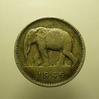 Belgian Congo 2 Francs 1946 - Congo (Belga) & Ruanda-Urundi